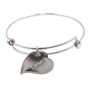 Customized Heartbeat Bracelet - Engraved Charm Bracelet