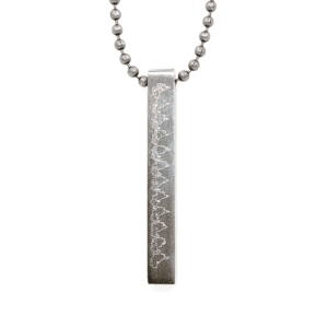 Heartbeat Pendant Necklace - Silver