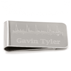 Customized Heartbeat Money Clip for Dad-to-be