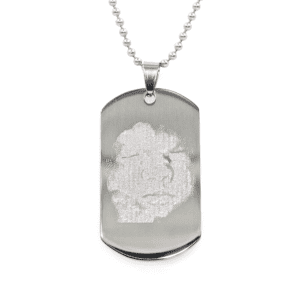 Ultrasound Necklace - Silver Engraved Photo Charm